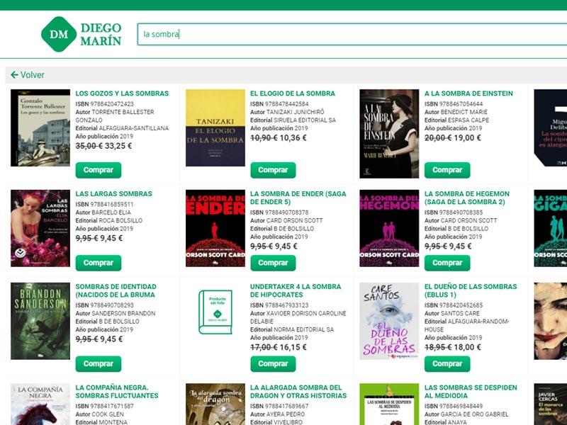 El buscador de Magento más rápido en Librerías Diego Marín